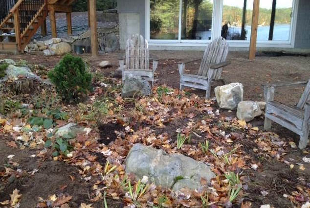 Before Paver Patio and Firepit