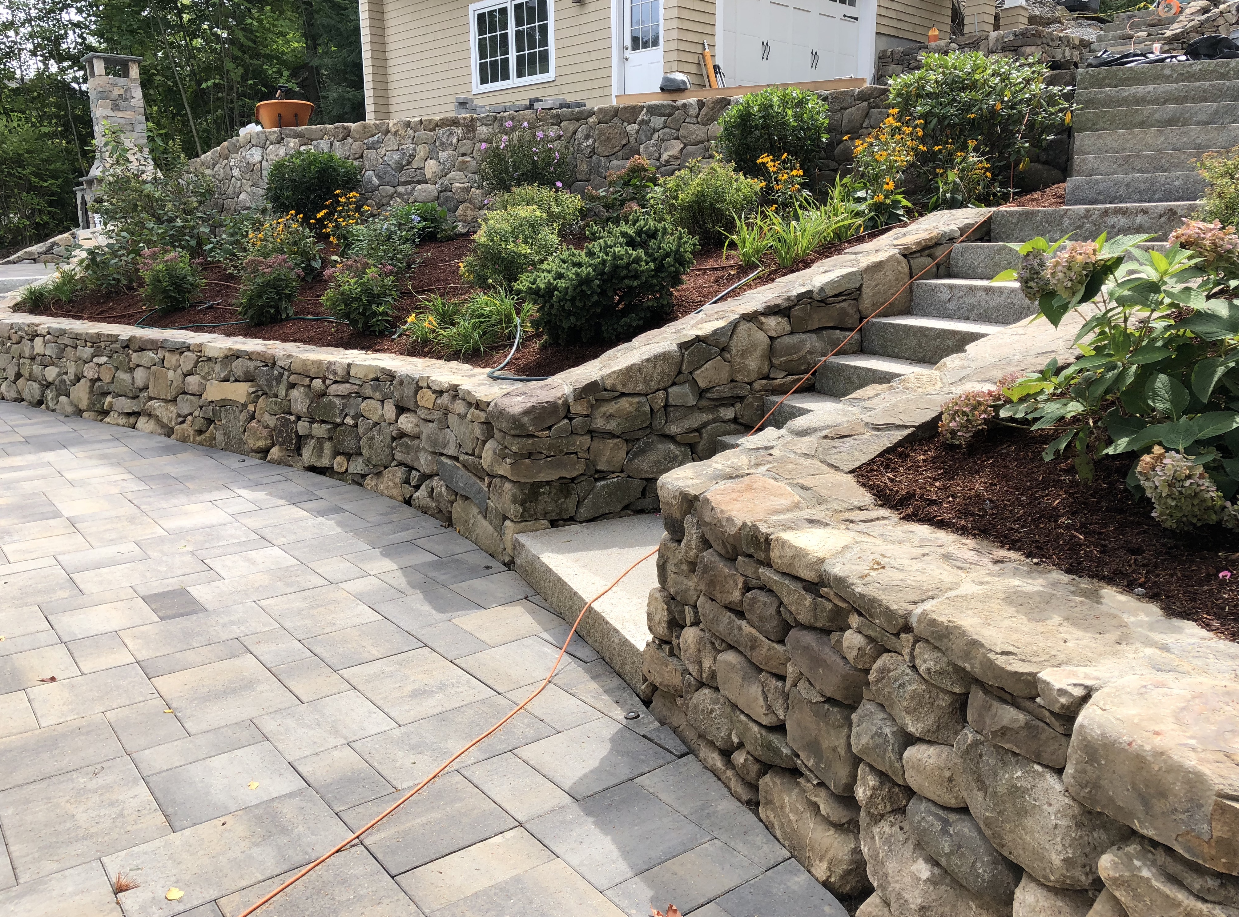 After Stone Wall, Steps, and Garden
