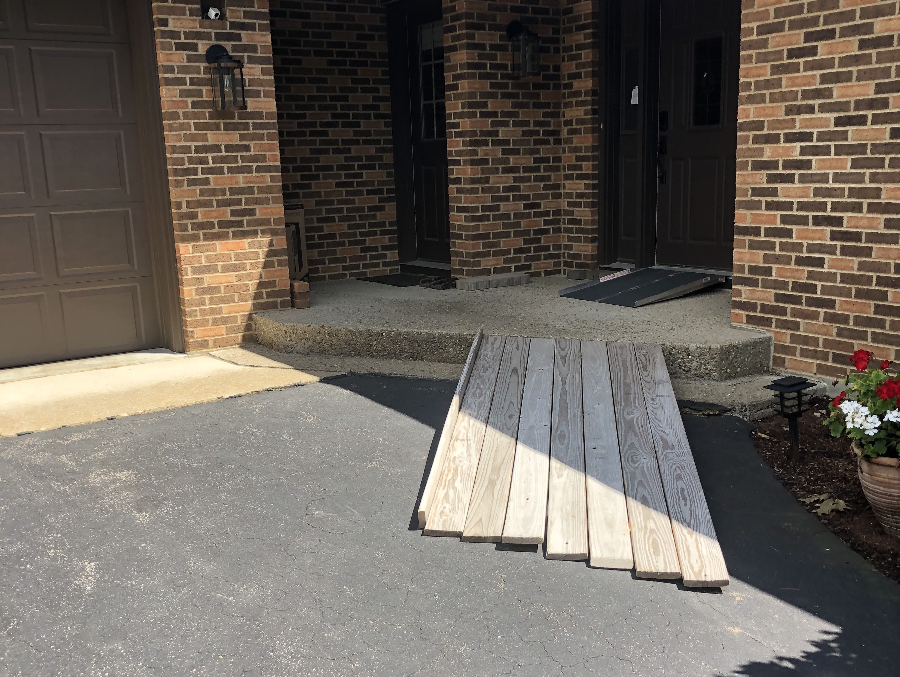 Before Stone Ramp Entry and Steps